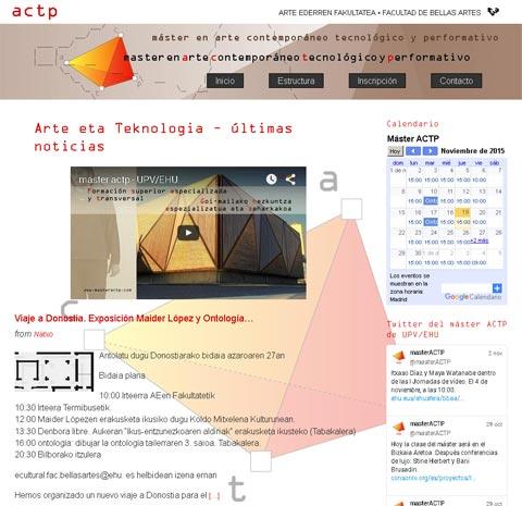Máster en arte contemporáneo tecnológico y performativo